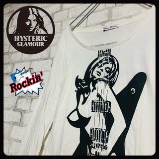 ヒステリックグラマー(HYSTERIC GLAMOUR)の【ギターガール】HYSTERIC GLAMER ヒステリックグラマー/ロンT(Tシャツ(長袖/七分))