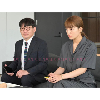 Ameri VINTAGE - 川口春奈着用✨『着飾る恋』アメリ DESIGN COLLAR JUMPSUIT