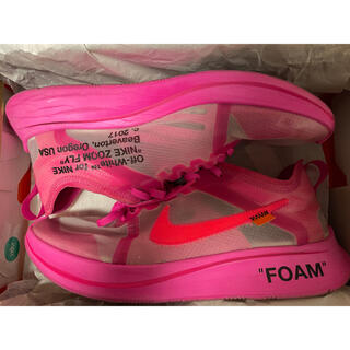 NIKE - OFF WHITE NIKE ZOOM FLY PINK 27CM 中古