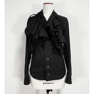 Yohji Yamamoto - ヨウジヤマモト FEMME ファム 変形デザイン フリル装飾 シャツ ジャケット