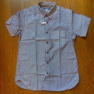 フレディアンドグロスター(FREDY & GLOSTER)の「美品」クリーニング済みグロスター半袖デザインストライプシャツ(シャツ)