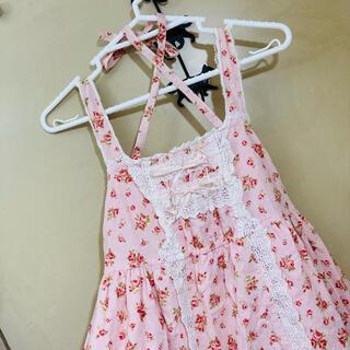 ベイビーザスターズシャインブライト(BABY,THE STARS SHINE BRIGHT)の小花柄ジャンパースカート(ロングワンピース/マキシワンピース)