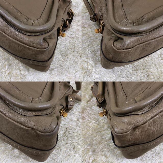 Chloe(クロエ)の美品✨クロエ パラティ 2way レザー ショルダーバッグ 金具 グレージュ レディースのバッグ(ショルダーバッグ)の商品写真