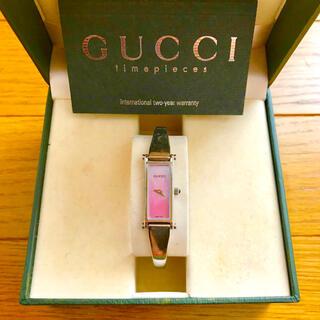 グッチ(Gucci)の【大特価‼︎】グッチ バングル腕時計 1500L ピンク 夏 山や海 旅行に🎀(腕時計)