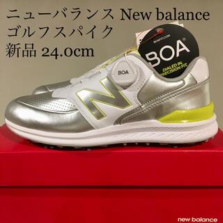 New Balance - 【新品】ニューバランス newbalance ゴルフスパイク 24.0cm
