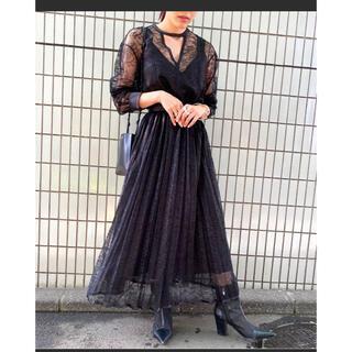 Ameri VINTAGE - LADY LACE PLEATS DRESS