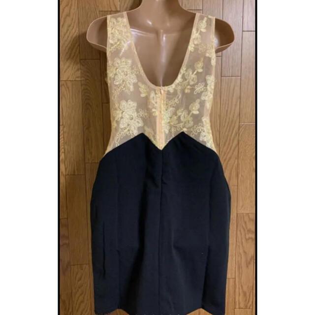 JEWELS(ジュエルズ)のシースルー切替/フラワーゴールド刺繍ドレス レディースのフォーマル/ドレス(ナイトドレス)の商品写真