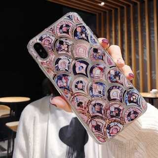 iPhone ケース カバー モロッカン タイル風  X/XS