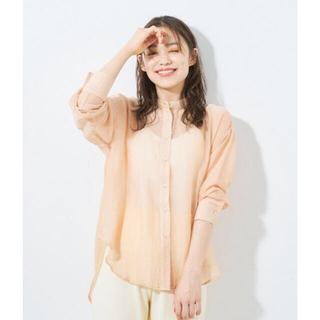 ディスコート(Discoat)のDiscoat /シアーバンドカラーシャツ(シャツ/ブラウス(長袖/七分))