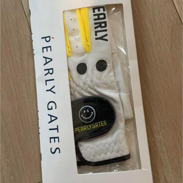 PEARLY GATES(パーリーゲイツ)の【正規品】韓国パーリーゲイツ ゴルフグローブ ネイルスルータイプ ゴルフ スポーツ/アウトドアのゴルフ(ウエア)の商品写真