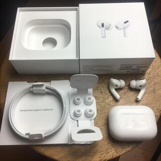 アップル(Apple)のairpods pro エアーポッズ プロ 正規品 動作確認済 apple(ヘッドフォン/イヤフォン)
