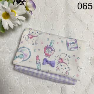 移動ポケット ♡ 猫 ねこ コスメ リボン 白 ラベンダー チェック 女の子(外出用品)