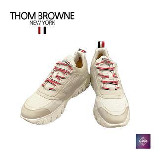 トムブラウン(THOM BROWNE)のトムブラウン スニーカー ホワイト MFD139A 26.0cm 正規品(スニーカー)