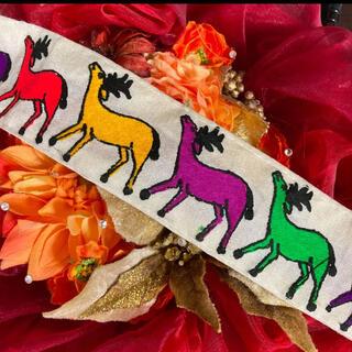 インド刺繍リボン 鹿 トナカイ 動物 チロリアンテープ 手芸 エスニック(各種パーツ)