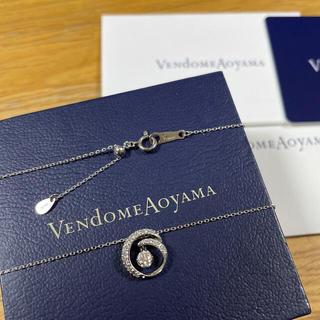 Vendome Aoyama - ヴァンドーム青山 プラチナ ダイヤモンド ネックレス 保証書付き 0.198ct