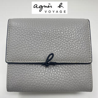 agnes b. - 美品☺︎agnes b.  voyage 二つ折り財布 グレー ブラック 黒