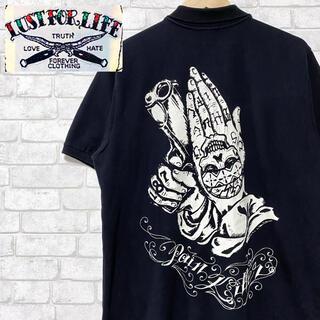 ラストフォーライフ(LUST FOR LIFE)のLUST FOR LIFE 鹿の子 ポロシャツ TATTOO ビッグプリント(ポロシャツ)