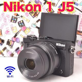 ニコン(Nikon)の☆Wi-Fi搭載&自撮り♪Nikon 1 J5 電動ズームレンズキット☆(ミラーレス一眼)