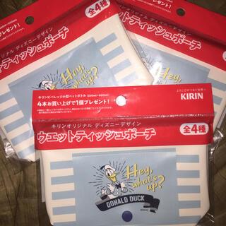 キリン(キリン)の■ 非売品 未使用 キリン×ディズニーウェットティッシュポーチ 3セット(日用品/生活雑貨)