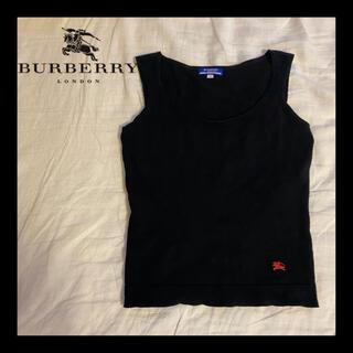 BURBERRY BLUE LABEL - BURBERRY バーバリーブルーレーベル タンクトップ 刺繍 レディース
