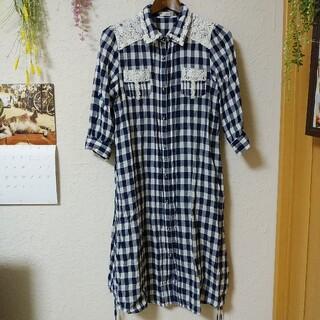 axes femme - axesfemme 七分袖ロングシャツ