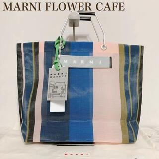 マルニ(Marni)の人気 MARNI マルニ フラワーカフェ ストライプバッグ ナイトブルー(トートバッグ)