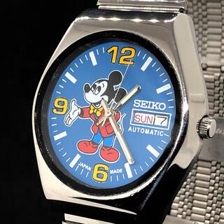 SEIKO - 【激レア】SEIKO/ミッキーマウス/Vintage/メンズ腕時計/ブルー色