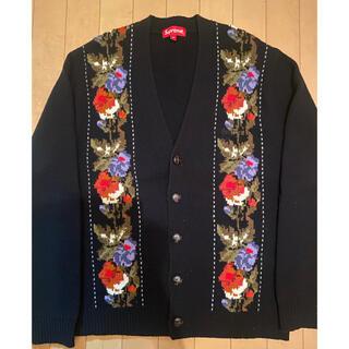 Supreme - Supreme Floral Stripe Cardigan Black