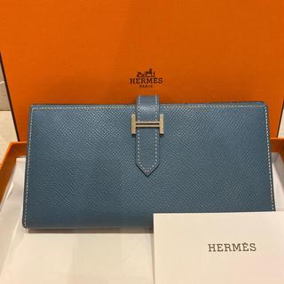 Hermes - HERMES☆エルメス☆ベアン      ブルージーン 長財布 〜美品〜