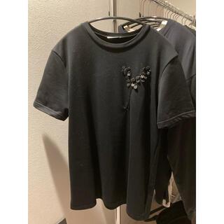 DIOR HOMME - Dior Homme ディオールオム ブラックカーペット 鈴蘭 Tシャツ XS
