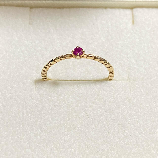agete(アガット)のcloche ルビー ピンキーリング レディースのアクセサリー(リング(指輪))の商品写真