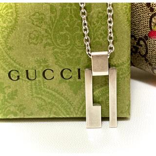 グッチ(Gucci)のグッチ カットアウト/Gロゴ/ Gプレート シルバー925 ネックレス(ネックレス)
