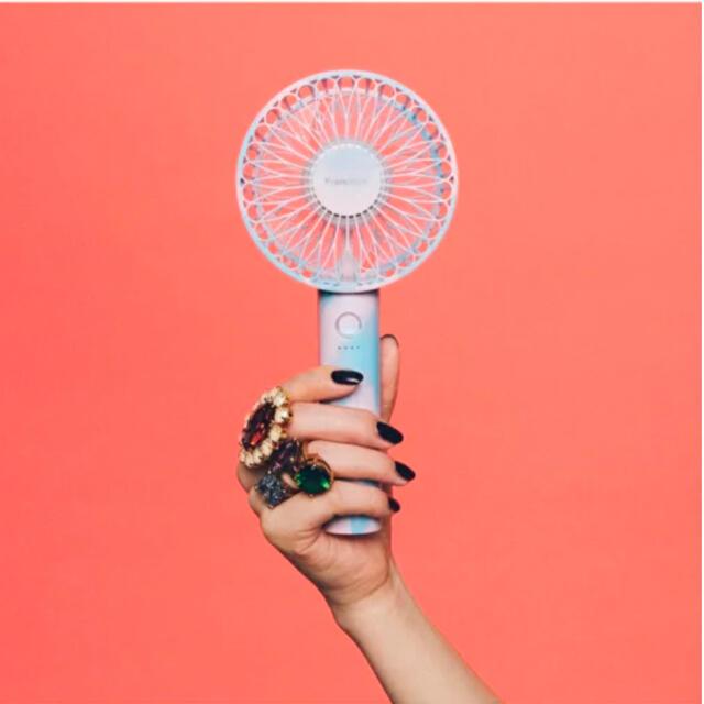 Francfranc(フランフラン)のFrancFranc 2021年版 フレ ハンディファン マーブルブルー 扇風機 スマホ/家電/カメラの冷暖房/空調(扇風機)の商品写真