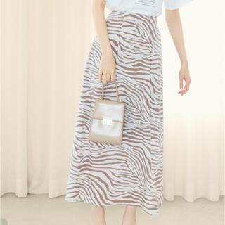 GRL - ゼブラ柄 ロングスカート