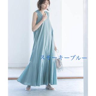 【美品】MARIHA マリハ 夏の月影のドレス スモーキーブルー 36