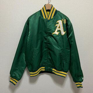 スターター MLB ATHLETICS 90s ヴィンテージ  中綿 ブルゾン