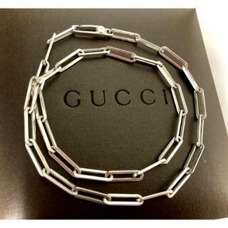 グッチ(Gucci)のグッチ チェーンリンクネックレス シルバー925 オールドグッチ/ヴィンテージ(ネックレス)