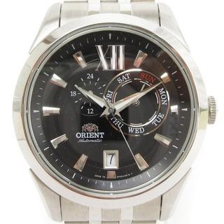 オリエント(ORIENT)のオリエント 腕時計 自動巻き SET0X004B0 アナログ シルバー ブラック(腕時計(アナログ))