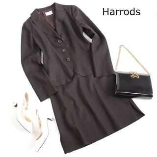 ハロッズ(Harrods)のハロッズ★ウール セットアップスーツ ブラウン 2(M) セレモニー 通勤 春(スーツ)