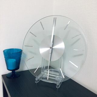 ニトリ(ニトリ)の掛け時計 ガラス製 ※地域によりお値引あり(掛時計/柱時計)