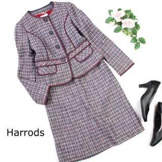 Harrods - ハロッズ★コットン ツイード セットアップスーツ フォーマル 1(S)