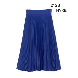 HYKE - 希少 新品未使用21SS HYKE PLEATED SKIRT ブルー