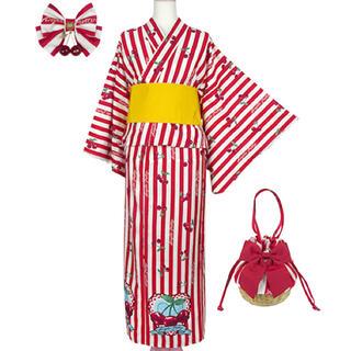 アンジェリックプリティー(Angelic Pretty)のCherry Stamp浴衣Set アカ(浴衣)