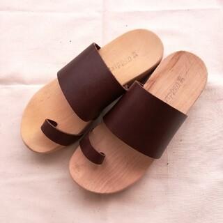 トリッペン(trippen)のトリッペン trippen ウッドソール サンダル 36 木靴 23.5㎝革(サンダル)