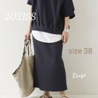 FRAMeWORK - 【2021SS】ラゲットリブスカート◆ネイビー/size 38