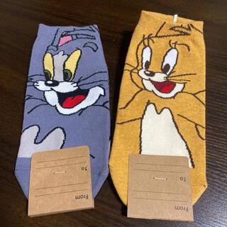 トムとジェリー 靴下 22-26cm(キャラクターグッズ)