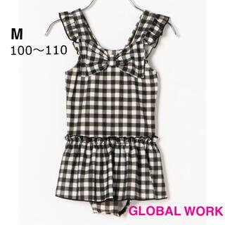 GLOBAL WORK - 新品【グローバルワーク】リボン フリル 水着 ワンピース ギンガムチェック M