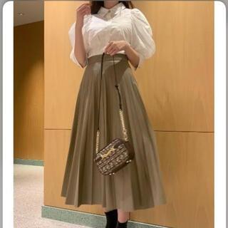 snidel - snidel タグ付き新品 レザースカート