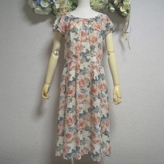 ローラアシュレイ(LAURA ASHLEY)の美品 ローラアシュレイ 贅沢 シルク100% 花柄 ワンピース(ロングワンピース/マキシワンピース)
