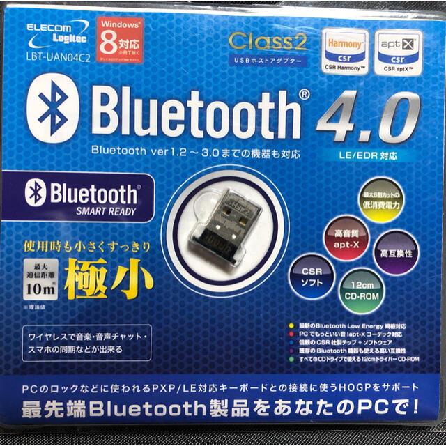 ELECOM(エレコム)のELECOM Bluetooth USBアダプター LBT-UAN04C2BK スマホ/家電/カメラのPC/タブレット(PC周辺機器)の商品写真